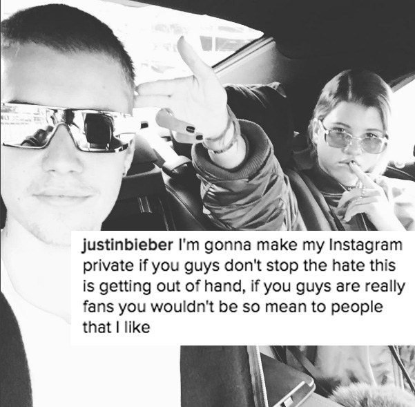 Apparently, he thought that all this hate was unJUSTIN-fied, and uploaded a post threatening to make his Instagram private.