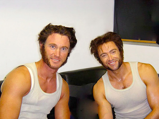 Hugh Jackman And His Stunt Double Richard Bradshaw On The Set Of X-Men: The Last Stand