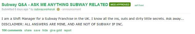 這就是為什麼「去Subway千萬不要點雞肉潛艇堡」!員工爆料連他們自己都不敢點來吃!