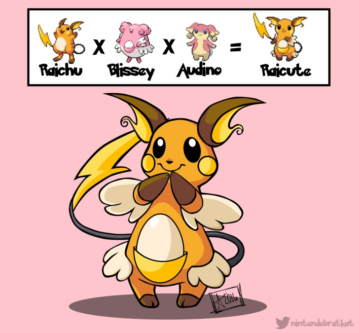 網友把神奇寶貝融合在一起後出現的11種新寶貝,卡拉卡拉+小火龍真的太可愛了!