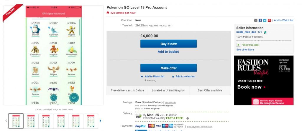 現在有人在網路上賣「寶可夢遊戲帳號」,看到「超扯天價」我已經決定明天辭職認真當個寶可夢大師了!