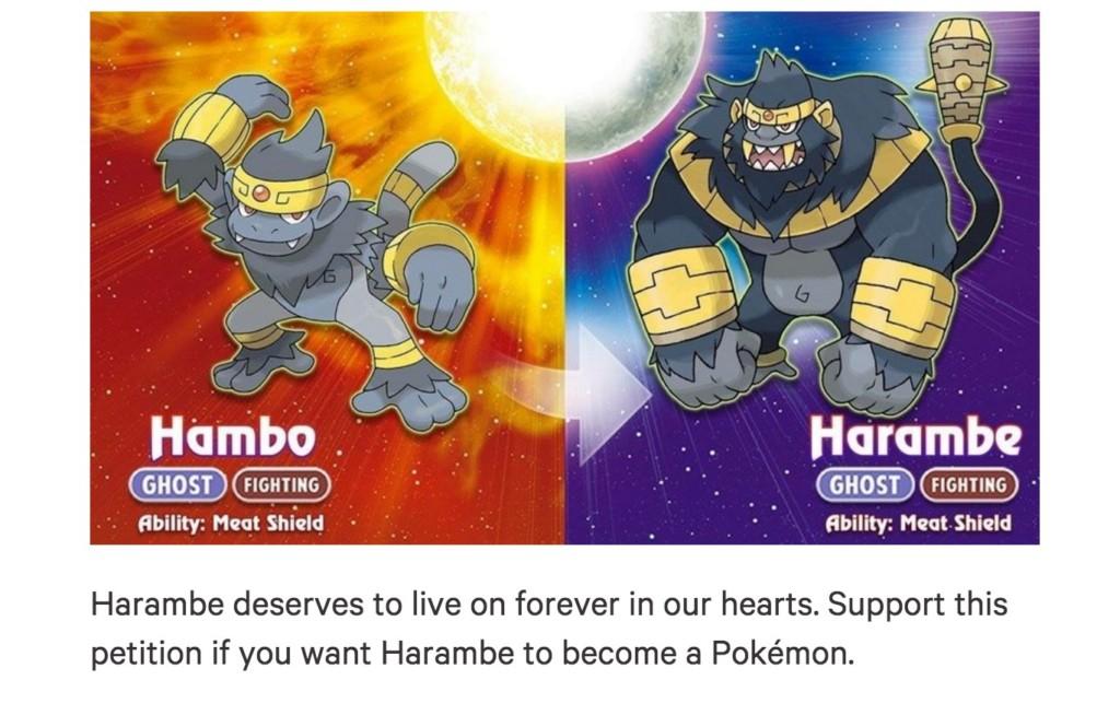 現在網友全部開始請求任天堂要把那頭因小孩掉入圍欄而「被殺的黑猩猩變成一個神奇寶貝」!這是他們的回應...