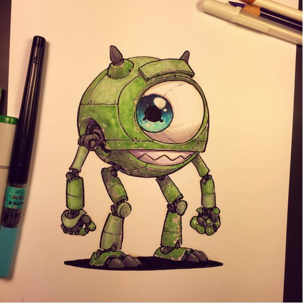 18張大家都熟悉的可愛卡通人物被「鋼鐵人化」後 鋼鐵小美人魚真的帥翻了!
