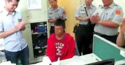 少年18歲生日時因攜帶毒品被警方逮捕,但「暖警」還是買了蛋糕幫忙慶生,希望他改過重來!