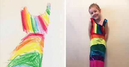 這間公司專門讓小孩子「設計」自己想穿的洋裝,看到的可愛作品完全不比名牌衣服差喔!