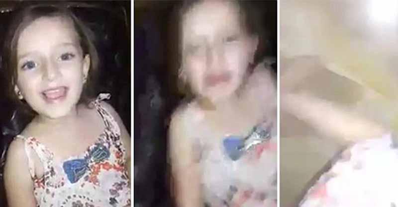 敘利亞小女孩開心的對著鏡頭唱歌,但幾秒鐘後炸彈就直接丟下來了...影片讓全球震驚!