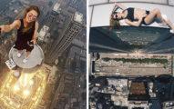 13張會讓你看到不小心開始緊張的「俄羅斯美女玩命危險自拍照」,懼高症者千萬別看!