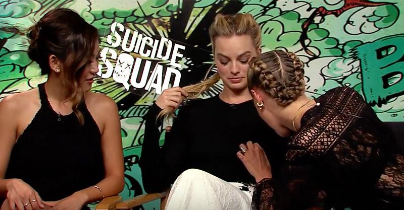 《自殺突擊隊》中的卡拉原來在現實生活裡有「找乳頭」的特異功能?!「小丑女」瑪格·羅比的乳頭...