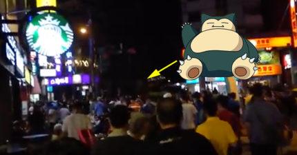 網友來台灣玩的時候碰巧走進了北投公園,當「卡比獸」出現時他瞬間後悔了...