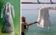 他們「把禮服泡在死海中長達兩年」,但當衣服再次被撈起來時,這種天然美不是人類能做出來的呢!