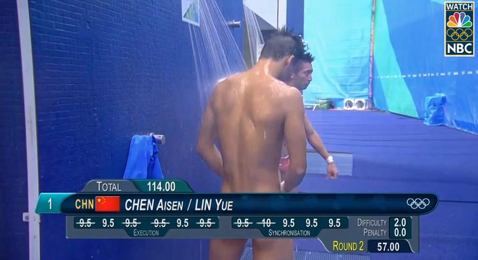 19位奧運男選手被萬惡的分數版擋到「重要部位」,結果就證明奧運其實就是大眾的色色片...