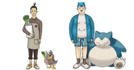 這位插畫家藉由人物穿著將寶可夢「完美擬人化」了!人形化胖丁就是秋天你一定要試的萌穿搭!(14張)