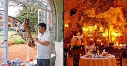 15間「吃過一次就值一輩子」的全球最奇特餐廳。#9直接弄濕坐在海裡用餐超美!