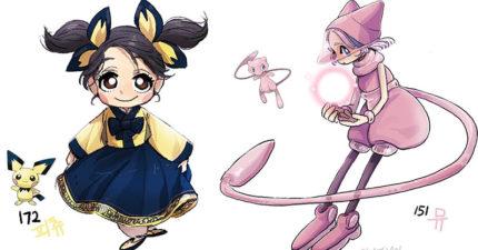 30幾張「如果寶可夢是人的話」的卡通主角插畫,超夢在這當中帥到絕對能當主角!