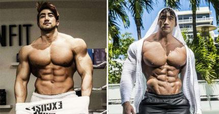 「亞洲最MAN男神噴射肌」年輕時被人瞧不起現在是超猛人間胸器,脫下褲子更讓全網路都快癱瘓了!(28張)
