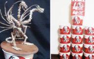 日本骨頭藝術家用肯德基打造「超精緻王者基多拉」,那座東京晴空塔也好美!(詭異)