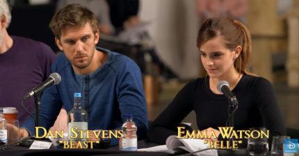 真人《美女與野獸》幕後對台詞影片曝光,光是聽到艾瑪與丹的聲音就已經戀愛了!