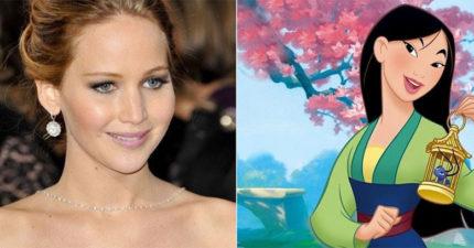 網友發佈10萬人連署,強迫迪士尼不准把《花木蘭》變成白種人!本來珍妮佛・勞倫斯要演花木蘭?!