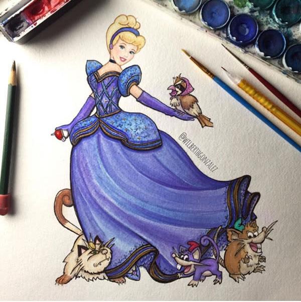 9張「迪士尼公主跟神奇寶貝夥伴」插畫就是你童年的總和!看到白雪公主跟「小矮人」我忍不住噴茶了...