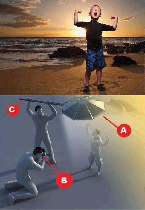 16張「揭發網美照片背後的暗黑真相」對比照片 塑膠袋竟然可以讓你秒變夢幻女神!