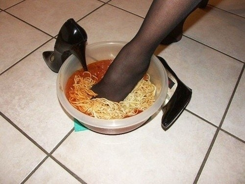 Damn, you tried to walk across you kitchen floor but suddenly spaghetti.
