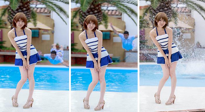 6張照片讓你看到每張完美Cosplay照片背後就有一個「犧牲落水的胖宅」