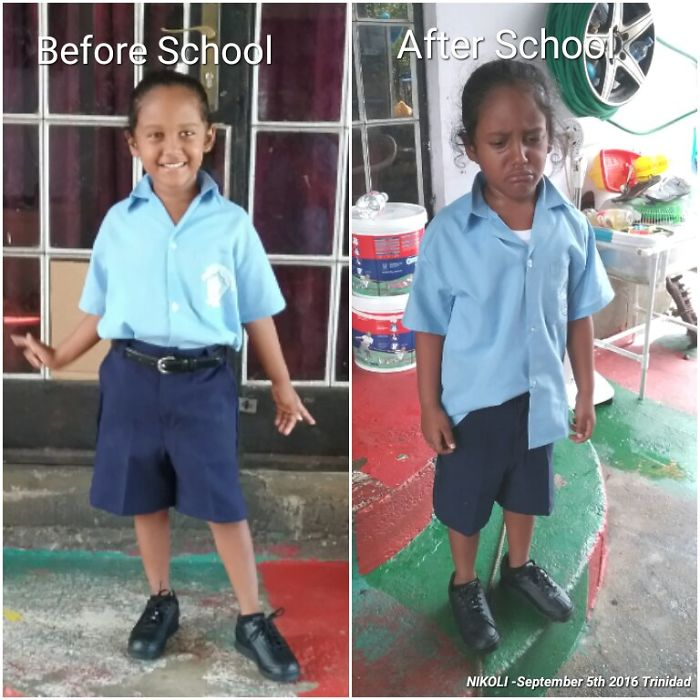 1 Before School Happy To Attend                   2 After School