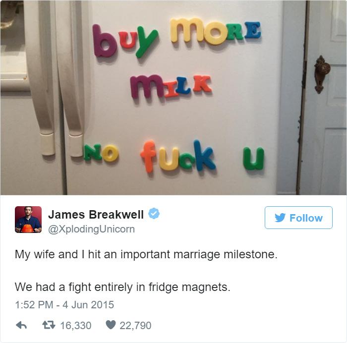 17則證明「結婚後就不用看喜劇」的爆笑夫妻短文。全天下的老婆大人都會認同#13!