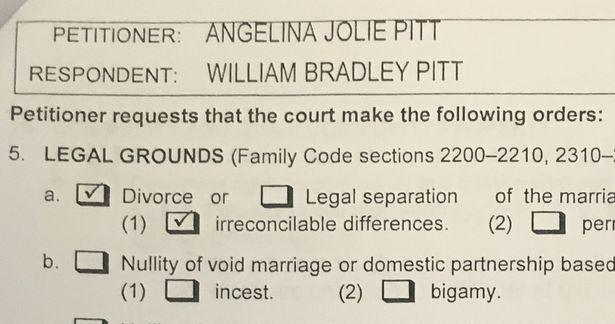 布裘離婚快訊:裘莉不要贍養費「只要小孩」,知情內幕者說「是某件事件」造成婚姻破碎的。