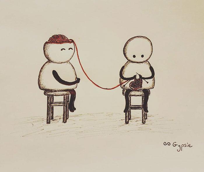 15個證明「愛情不是永遠美好的」半黑暗系插畫 談戀愛會變笨是真的!