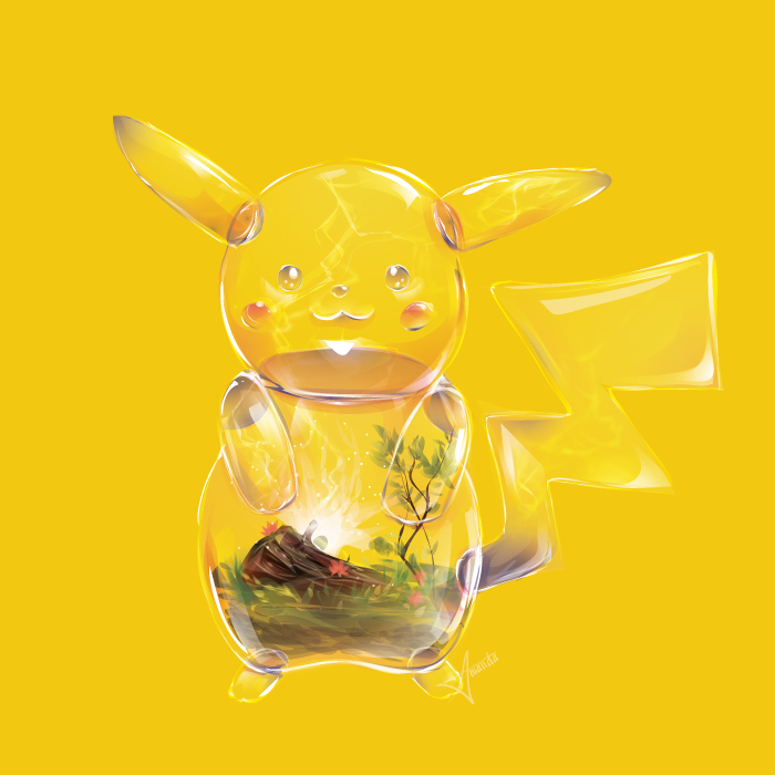 7隻「被插畫家改造成透明玻璃盆栽」的寶可夢玻璃世界,傑尼龜體內的好可愛~