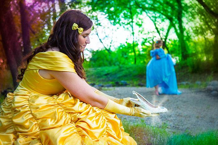 這對情侶的訂婚照片,讓大家看到了「貝兒與灰姑娘」也可以相愛結婚成就「最美童話愛情故事」!