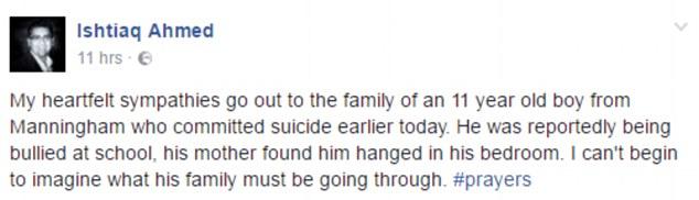 11歲男孩上學被霸凌,3週後就去世了...
