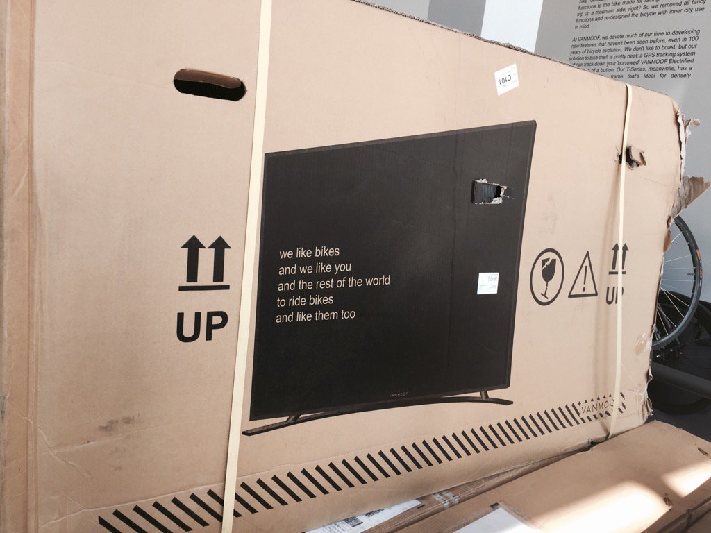廠商為「減少自行車運送途中被撞毀」降低虧損,突發奇想決定「每件包裝都『附贈』一台電視」!