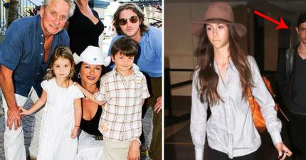 麥克道格拉斯夫婦的「一雙寶貝兒女」長大了!13歲女兒已經夠漂亮,一看後面的哥哥「高顏值神基因」!