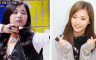 周子瑜在韓國偶像運動大會上現出弓箭技巧,箭飛出去後「頭髮」讓粉絲瞬間爆炸!
