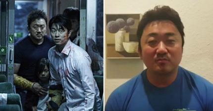 《屍速列車》最MAN男二馬東石自拍「感謝台灣」影片,甜蜜暖男樣讓女生的心都融化了!