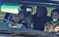 90歲英國女王跟家人出遊野餐,竟然被拍到保鏢被女王趕到後面去!凱特王妃表情...