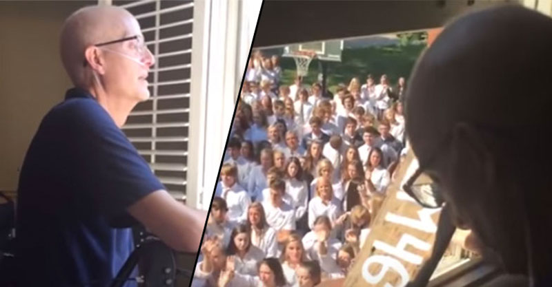 400名學生們無法忍受尊敬的老師獨自與癌症搏鬥,全部招集在外唱歌想要救他的命「感動2000萬網友」!