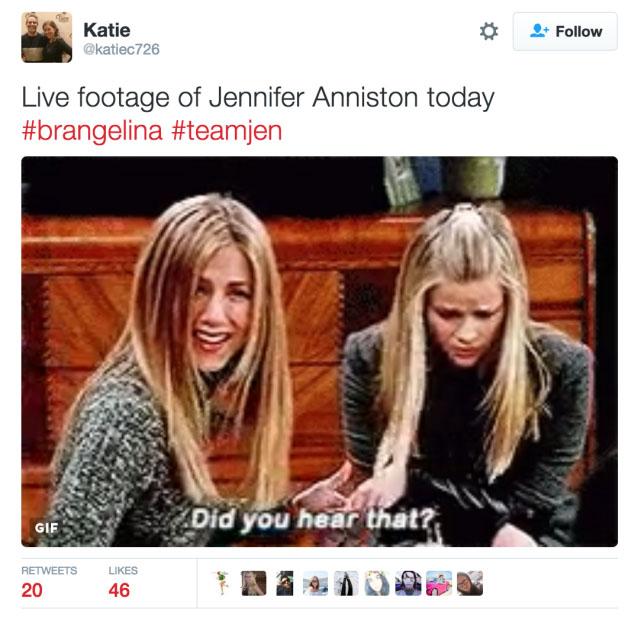 「小布裘莉離婚」震驚全球演藝圈,但網友卻紛紛用小布前妻「珍妮佛安妮斯頓梗圖」酸爆小布裘莉!