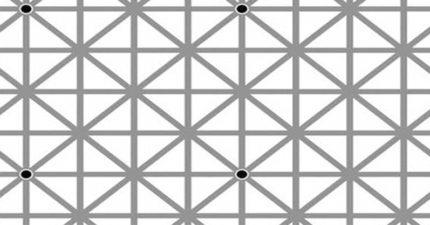 如果你能一次看到全部12個黑點你的話,你可能就已經算是「超進化人類」了!