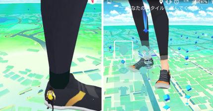 網友們紛紛上傳照片說,在新版本裡「巨人們」已經進擊到Pokemon Go裡面來了...
