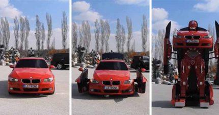 土耳其公司研發出了一台會變形的BMW跑車(不是特效),當他站起來的那一刻感覺時代變了...