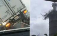 7個至今「最恐怖的梅姬颱風」災難影片,#4卡車吹翻的剎那讓網友爆尖叫!