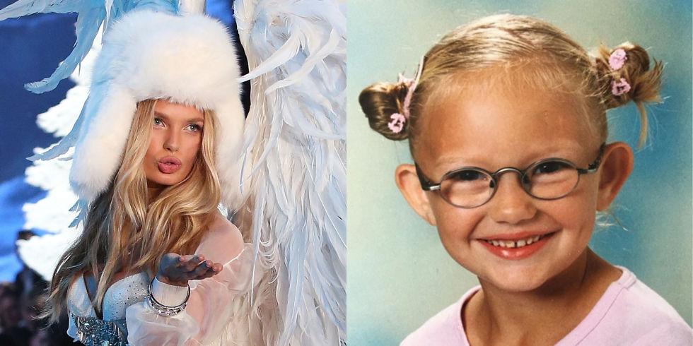 20張超級名模的「童年vs現在」明星氣質爆表對比照。#17米蘭達寇兒從小就美翻!