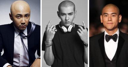 10位「光頭造型反而更有魅力」的亞州男明星,#10陳柏霖為戲剃頭超霸氣!
