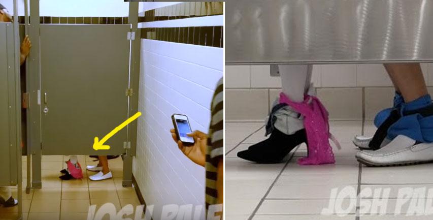 民眾進廁所拍到超激烈「四腳獸大戰」,手機拍完看影片時才發現「被耍慘了」。