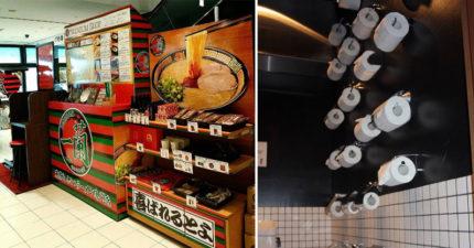 日本知名「一蘭拉麵」的店廁所內的衛生紙架多到嚇到客人!負責人:「這樣才有童趣」。