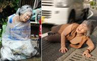 「88歲老奶奶遭狠心虐待丟棄」照震驚外界,其實根本就是她自己幹的好事!(18張爆笑)
