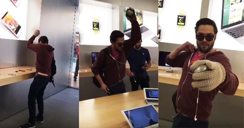 這名男子因為不滿蘋果竟當場「拿鐵球狂砸店內每一台iPhone」,光1分鐘影片就「砸了12台iPhone」...(影片)